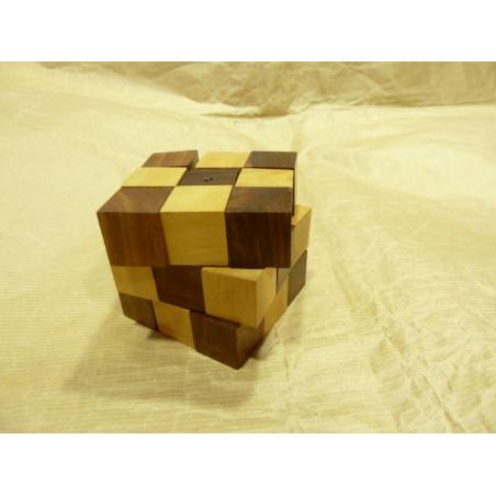 Puzzle cubo madera