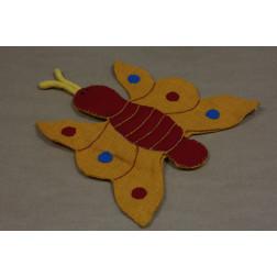 Marioneta yute-algodón mariposa